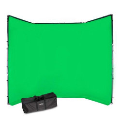 Manfrotto Fundal Chroma Key verde Panoramic cu cadru inclus 4x2.90m