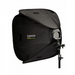 Pachet Lastolite Ezybox Hotshoe 63x63cm cu prindere + Lastolite Ezybox 2401 Hot Shoe Tilthead Suport compatibil blitz si umbrela + Lastolite Stativ