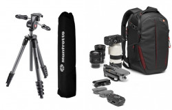 Pachet trepied Manfrotto Compact Advanced 3 way + Rucsac Manfrotto RedBee 110