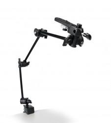 Manfrotto brat articulat cu adaptor camera si menghina