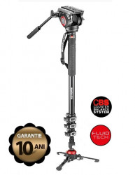 Manfrotto MVMXPRO500 monopied video fluid cu baza Fluidtech
