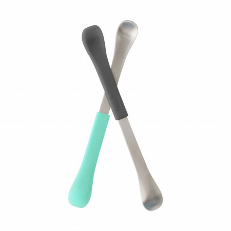 BOON - set SWAP lingurita 2-in-1 gri+teal