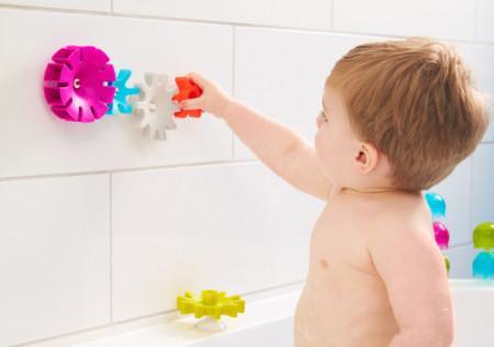 Jucărie de baie bebeluș, BOON, set 5 jucării COGS