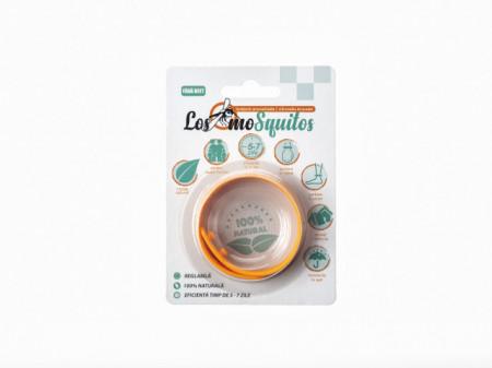 Los moSquitos - brățară anti țânțari aromatizată culoare: portocaliu, masura reglabila de la XS la XL
