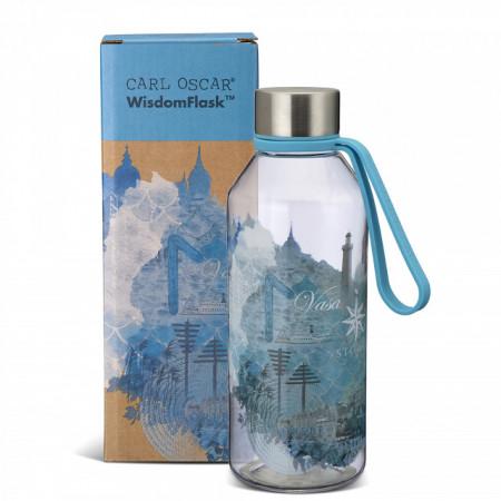 Sticla din Tritan bebelusi, WisdomFlask bleu, Carl Oscar