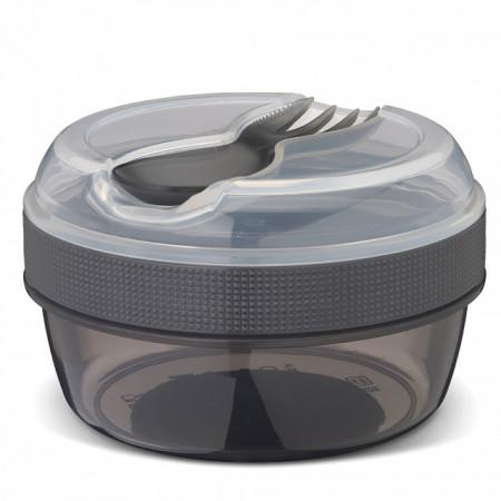 Caserola compartimentata N'Ice Box cu disc racire, Carl Oscar, 0.3l, gri