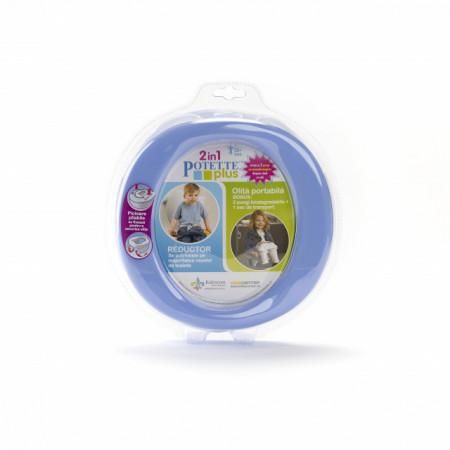 Oliță portabilă pliabilă 2 în 1 Potette Plus culoarea lila fata