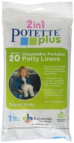 Pungi biodegradabile pentru olita portabila, 20 buc/set