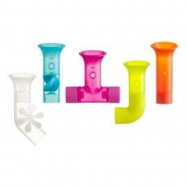 Jucărie de baie bebeluș, BOON, jucarie PIPES multicolor - tuburi cu ventuze