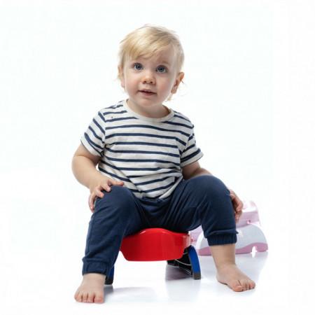 Oliță portabilă pliabilă 2 în 1 Potette Plus culoarea rosie copil
