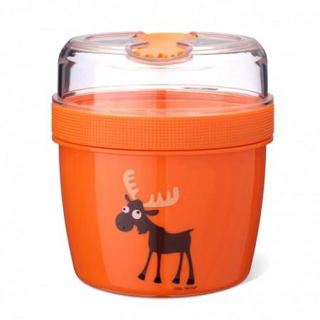 CARL OSCAR N'Ice Cup™ L 0.6 l caserola compartimentata cu disc de racire culoare orange