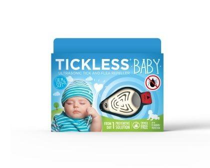 TICKLESS Baby Anti capuse - Repelent ultrasonic anticapuse pentru copii 0-5 ani - culoare alb
