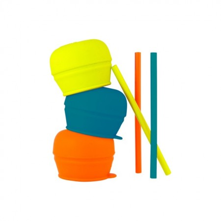 Boon, Set 3 capace silicon + paie, Snug, nu contine ftalati