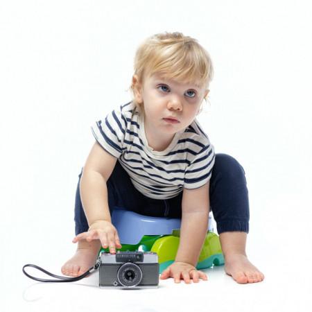 Oliță portabilă pliabilă 2 în 1 Potette Plus culoarea lila copil