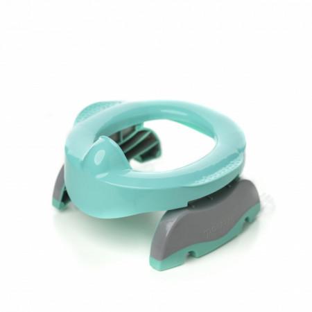Oliță portabilă pliabilă 2 în 1 Potette Plus Premium culoare turquoise lateral