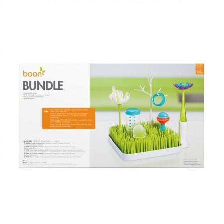 Boon, Set tava uscare veselă Grass/Pulp/Forb+, 4 accesorii uscare Stem & Twig, nu contine ftalati