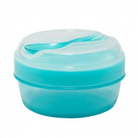 Caserola compartimentata N'Ice Box cu disc racire, Carl Oscar, 0.3l, bleu