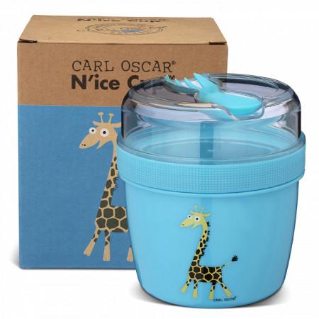 Caserola compartimentata N'Ice Box cu disc racire, Carl Oscar, blue