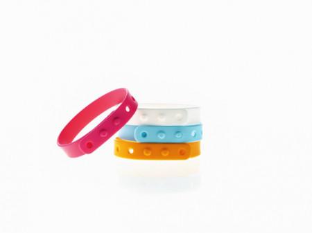 Los moSquitos - brățară aromatizată de silicon, culoare roz, masura reglabila de la XS la XL
