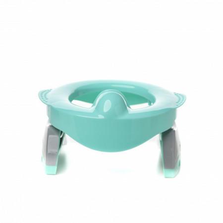 Oliță portabilă pliabilă 2 în 1 Potette Plus Premium culoare turquoise fata 2