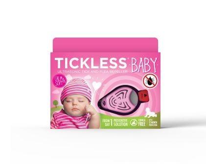 TICKLESS Anticapuse - Repelent ultrasonic anticapuse pentru copii - culoare roz