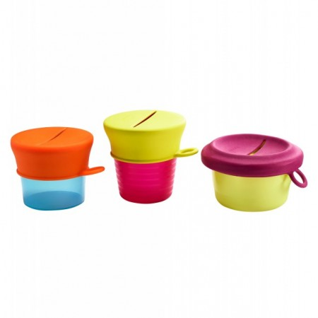 BOON - SNUG snack - set caserole cu capace de silicon