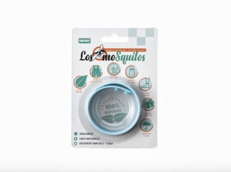 Los moSquitos - brățară anti țânțari aromatizată culoare: albastru, masura reglabila de la XS la XL