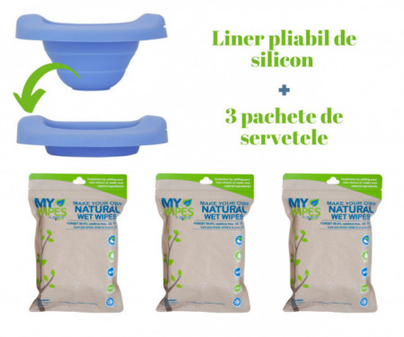 potette plus liner silicon servetele