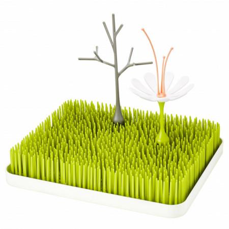 Boon, Set tava uscare veselă Lawn+Stem+Twig, accesoriu uscare Stem, nu contine ftalati