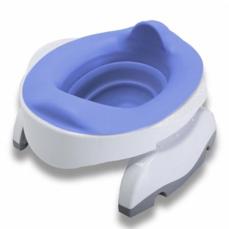 Liner reutilizabil silicon albastru pentru oliță portabilă Potette Plus și Potette Premium 5