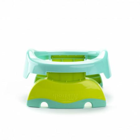 Oliță portabilă pliabilă 2 în 1 Potette Plus culoare turquoise spate