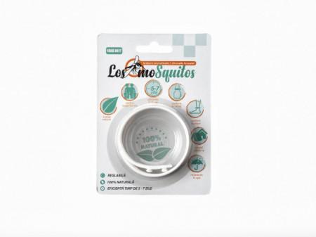 Los moSquitos - brățară anti țânțari aromatizată culoare: alb, masura reglabila de la XS la XL