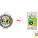 PACHET PROMO - Olita portabila culoarea gri Potette Plus + Pungi biodegradabile de unica folosinta - 30 buc/set