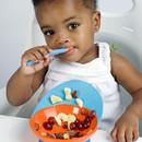 Castron bebeluș, BOON, castron/ventuza CATCH BOWL, portocaliu
