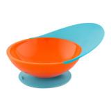 PACHET PROMO - Lingurita SQUIRT cu rezervor culoare portocaliu + CATCH BOWL - castron cu sistem antistropire albastru+portocaliu