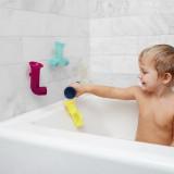 Jucărie de baie bebeluș, BOON, jucarie PIPES pastel - tuburi cu ventuze