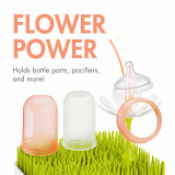 Boon, accesoriu uscare vase bebelusi, Stem, alb, nu contine ftalati
