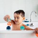 Boon, Jucărie de baie bebeluș, set 9 piese: meduze cu ventuze Jellies, nu contine ftalati