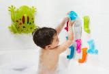 Jucărie de baie bebeluș, BOON, set Pipes & Tubes & Cogs