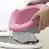 Potette Plus, Liner reutilizabil pentru olita portabila, silicon, roz