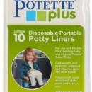 Potette Plus, Pachet Olita portabila, liner, 10 pungi biodegradabile, 700g, 14 luni+, albastra