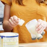 Cutie dozator - formula de lapte praf, TRIPOD, BOON, gri