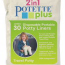 PACHET PROMO - Olita portabila culoarea roz Potette Plus + Pungi biodegradabile de unica folosinta - 30 buc/set