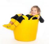 Sac de dormit bebelus Albinuta, Penguin Bag, 2-4 ani, tog 2,5 fetita picioare libere