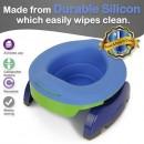 Liner reutilizabil silicon albastru pentru oliță portabilă Potette Plus și Potette Premium 3