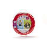 Oliță portabilă pliabilă 2 în 1 Potette Plus culoarea rosie fata