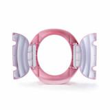 Oliță portabilă pliabilă 2 în 1 Potette Plus roz cu alb jos