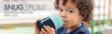 Pahar bebeluș, capace silicon cu cioc Snug Spout, BOON