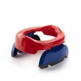Oliță portabilă pliabilă 2 în 1 Potette Plus culoarea rosie lateral