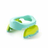 Oliță portabilă pliabilă 2 în 1 Potette Plus culoare turquoise lateral